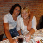 Edinson Cavani with his mother Berta Gómez