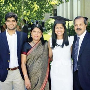 Falguni Nayar with her family