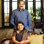 Falguni Nayar with her husband