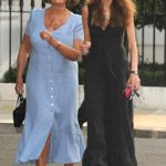 Gemima Goldsmith with her mother