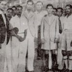 Hockey Fans with Dhyan and Roop Singh before the 1935 tour of NZ and Australia