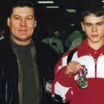 Igor Akinfeev with his father