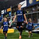 Ivan Perisic with his two children