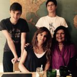 Jemima Goldsmith with her two children