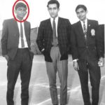 Jogi standing with Mansoor Ali Khan Pataudi (Center)