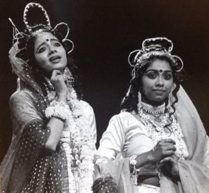Kanupriya Pandit (Left) as a theatre artist