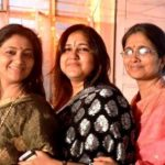 Kanupriya Pandit with her sisters Tanuja Shankar (Center) and Anuradha Shankar (Right)