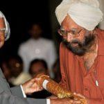 Khushwant Singh Padma Vibhusan in 2007
