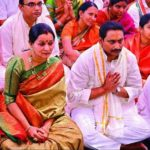Kiran Kumar Reddy With His Wife