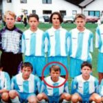 Mario Mandzukic in his childhood playing football