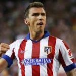 Mario Mandzukic playing for Atletico Madrid