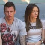 Mario Mandzukic with his girlfriend