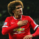 Marouane Fellaini playing for Manchester United