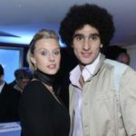 Marouane Fellaini with his ex-girlfriend Lara Binet