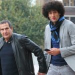 Marouane Fellaini with his father