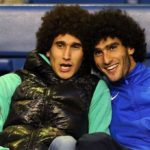 Marouane Fellaini with his twin brother Mansour Fellaini