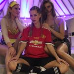 Marouane Fellaini's ex-girlfriend Viktoriya Bonya wearing Manchester United Jersey