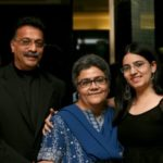 Niharika Bhattacharya with Parents