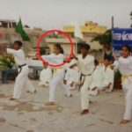 Nidhi Uttam doing martial arts