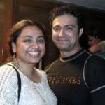 Ninad Kamat with his wife