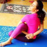 Nivedita Bhattacharya doing yoga