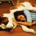 Nivedita Bhattacharya loves dogs