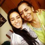 Nivedita Bhattacharya with her mother