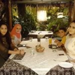 Nora Fatehi with her family and best friend Eisha Acton