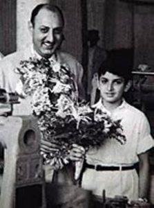 Nusli Wadia in his childhood with his father