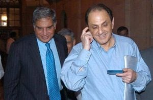 Nusli Wadia with Ratan Tata