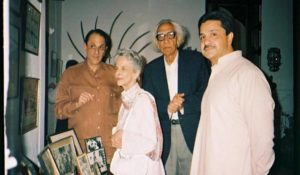 Nusli Wadia with his mother and family in Pakistan