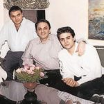 Nusli Wadia with his sons