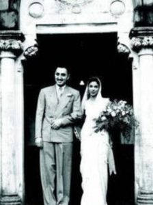 Nusli Wadia's parents' marriage picture