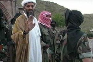 Osama Bin Laden with Al-Qaeda Members