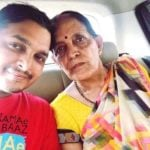 Paritosh Tripathi with his mother