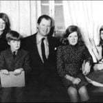 Princess Diana with her father and her siblings