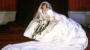 Princess' wedding ivory dress