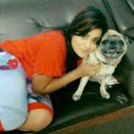 Priyanka, a dog lover