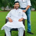 Ram Vilas Paswan with his son Chirag Paswan