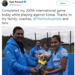 Rani Rampal Completed 200 Caps In International Career
