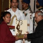 Rani Rampal Recieving The Arjuna Award