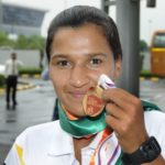 Rani Rampal With The Bronze Medal