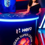 Ranjini Haridas hosted 'Hero Indian Super League'