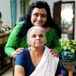 Ranjini Haridas mother Sujatha and grandmother