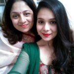 Rashmi Agdekar with her mother