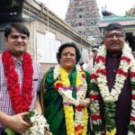 Ravi Shankar Prasad With His Wife and Son