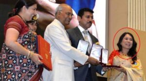 Rima Das Receiving Award By The President Of India