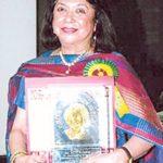 Ritu Kumar with Indira Gandhi Priyadarshini Award