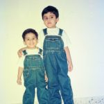 Rohan Hingorani with his brother during his childhood