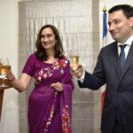 Shobhana Bhartia Drinking